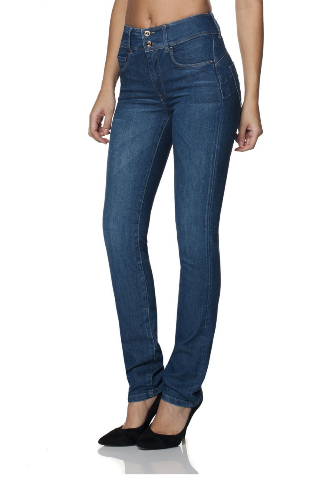Salsa Secret Slim Push In Jeans, Blue Denim