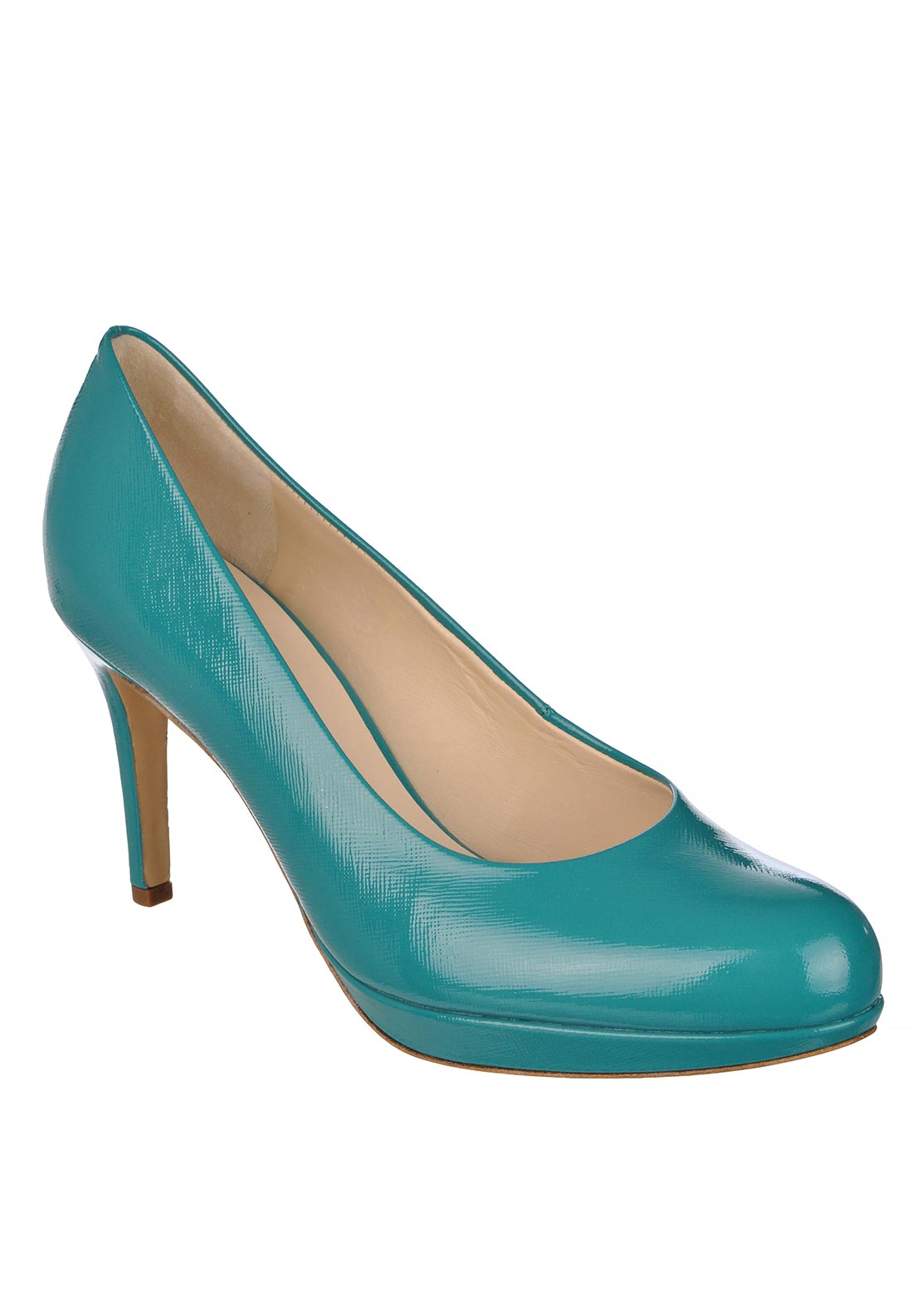 Hogl Womens Leather Patent Heeled Shoes, Turquoise