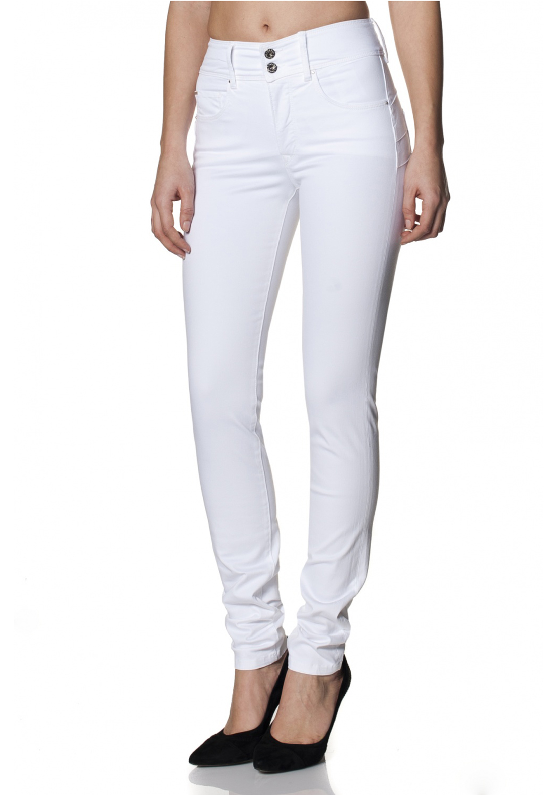 Salsa Secret Skinny Push In Jeans, White