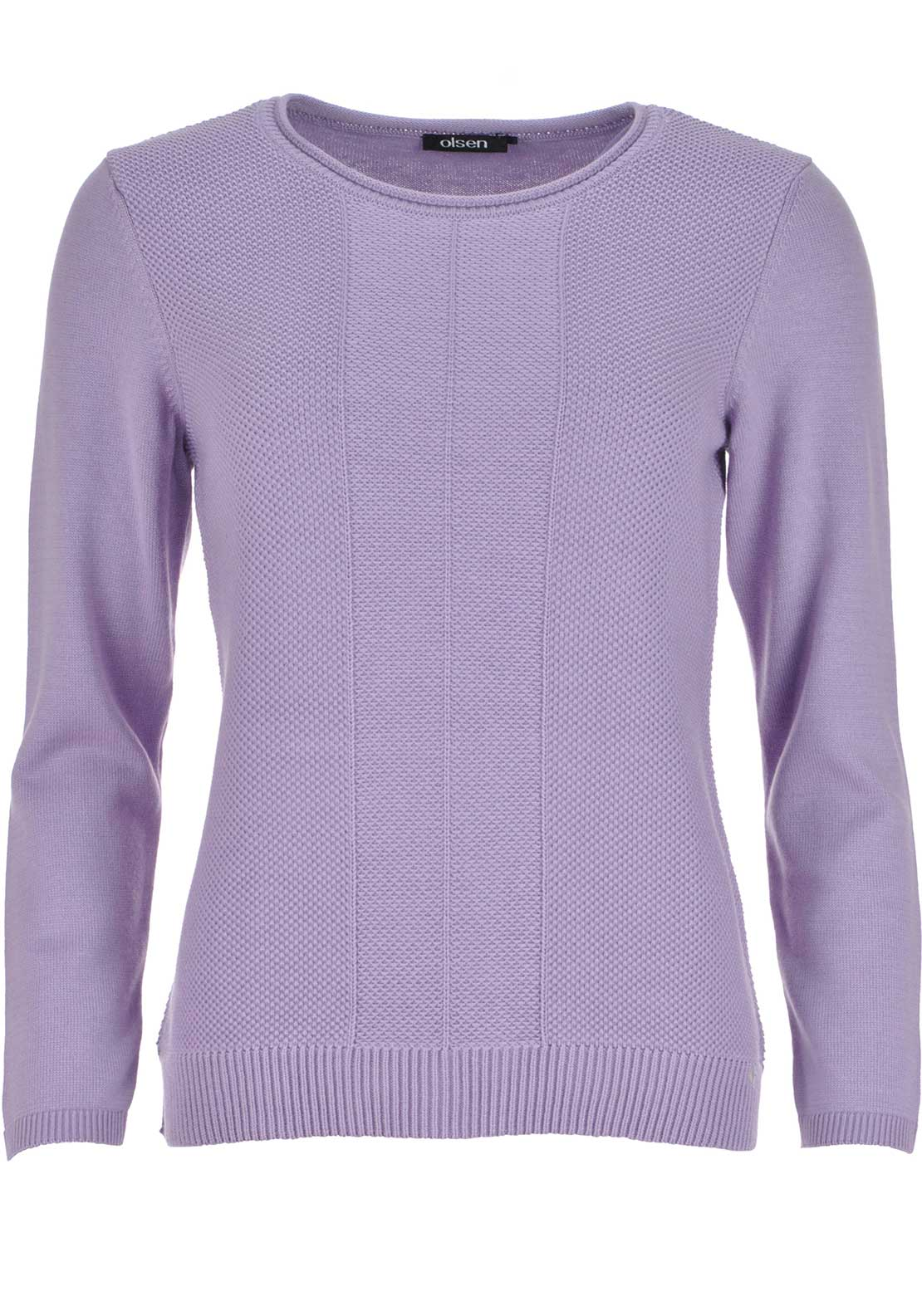 Olsen Textured Knit Sweater Jumper, Lilac
