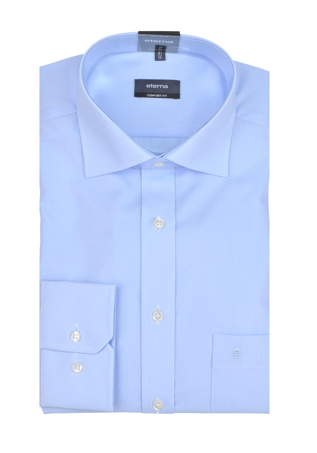 Eterna Mens Long Sleeved Formal Shirt, Blue