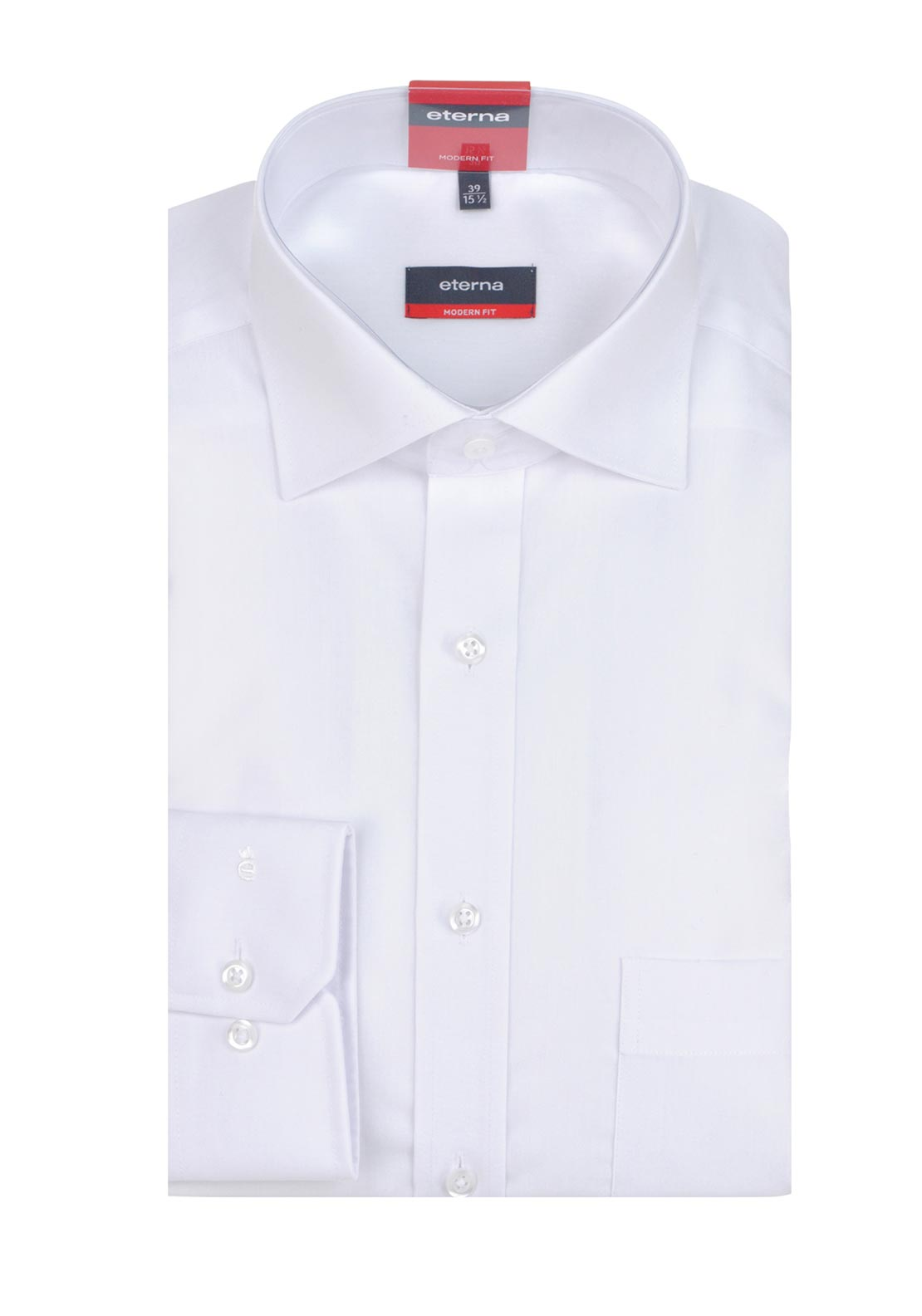 Eterna Mens Long Sleeved Formal Shirt, White