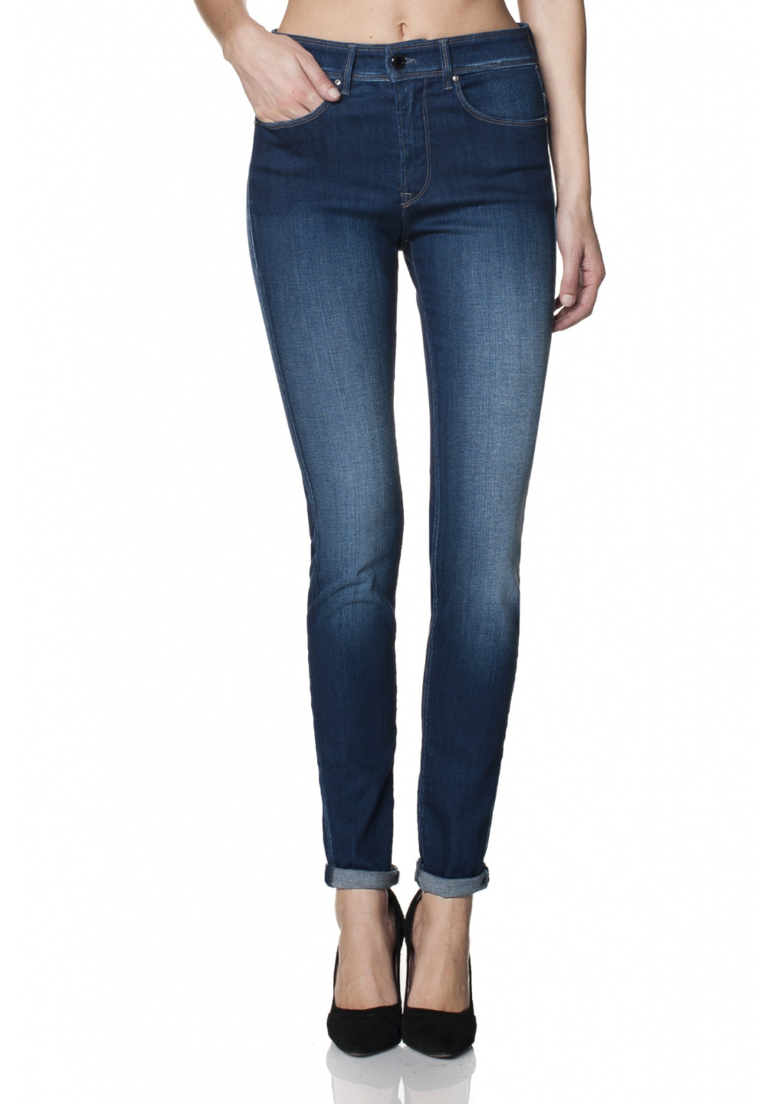 Salsa Carrie Push In Skinny Leg Jeans, Blue Denim