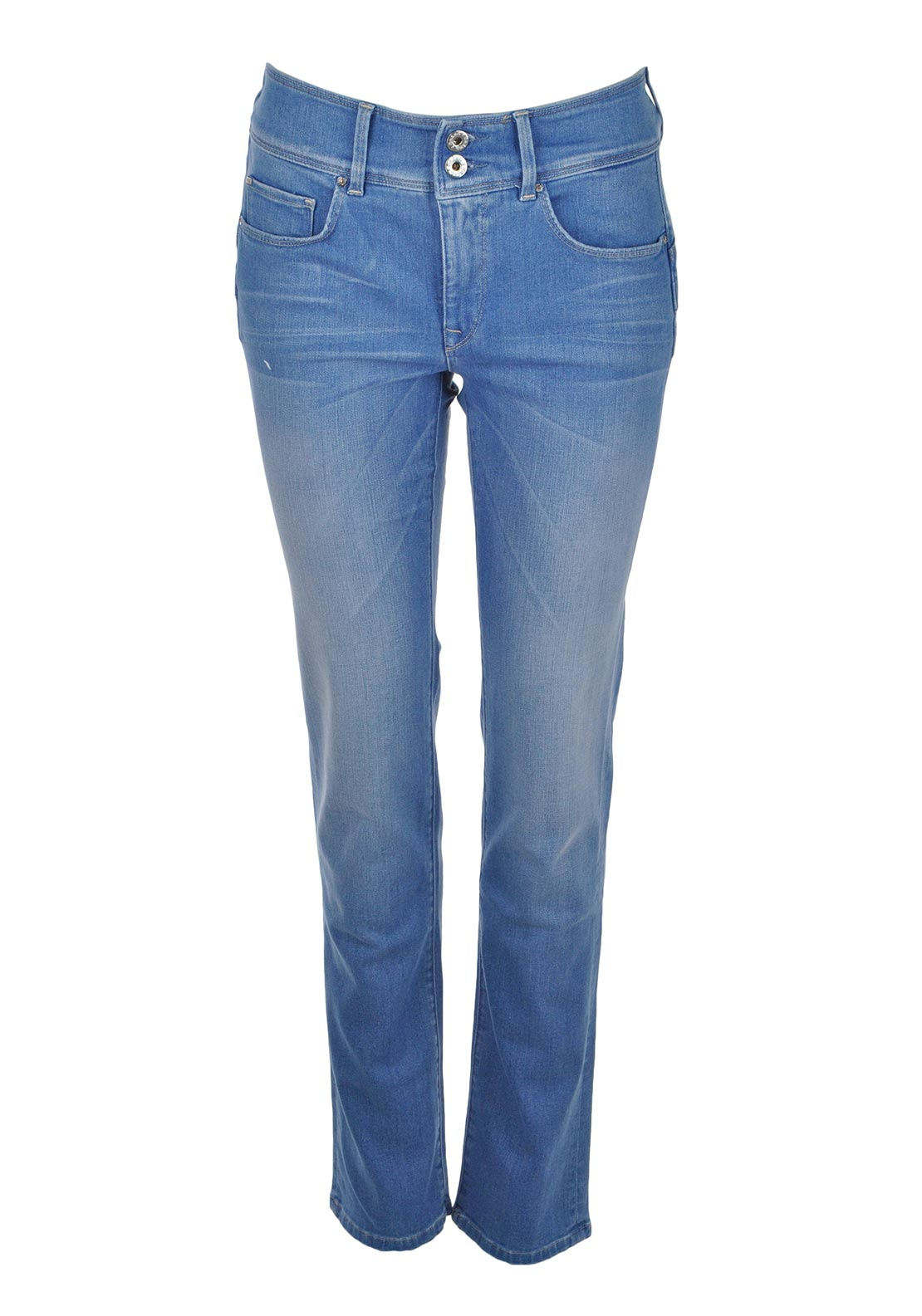 Salsa Secret Push in High Waist Boot Cut Jeans, Light Blue Denim