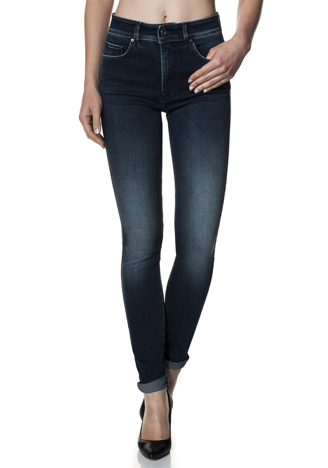 Salsa Carrie Push In High Waist Jeans, Dark Blue