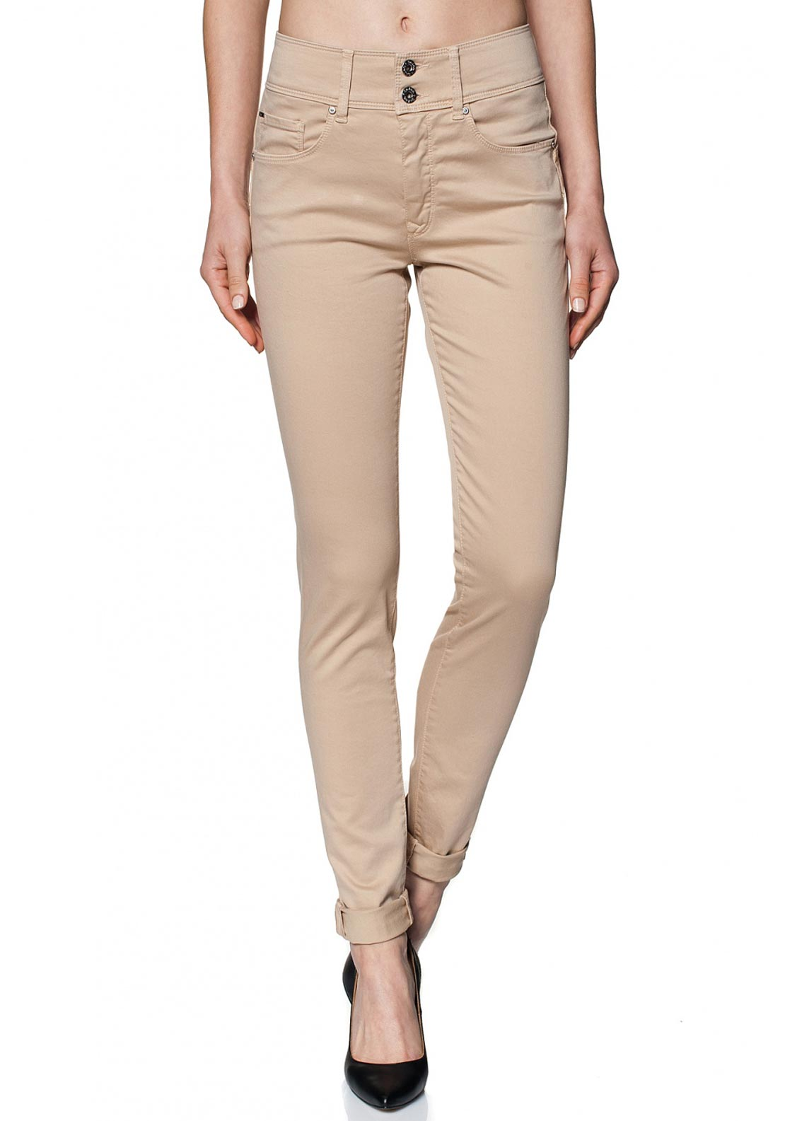 Salsa Secret Push In High Waist Jeans, Beige
