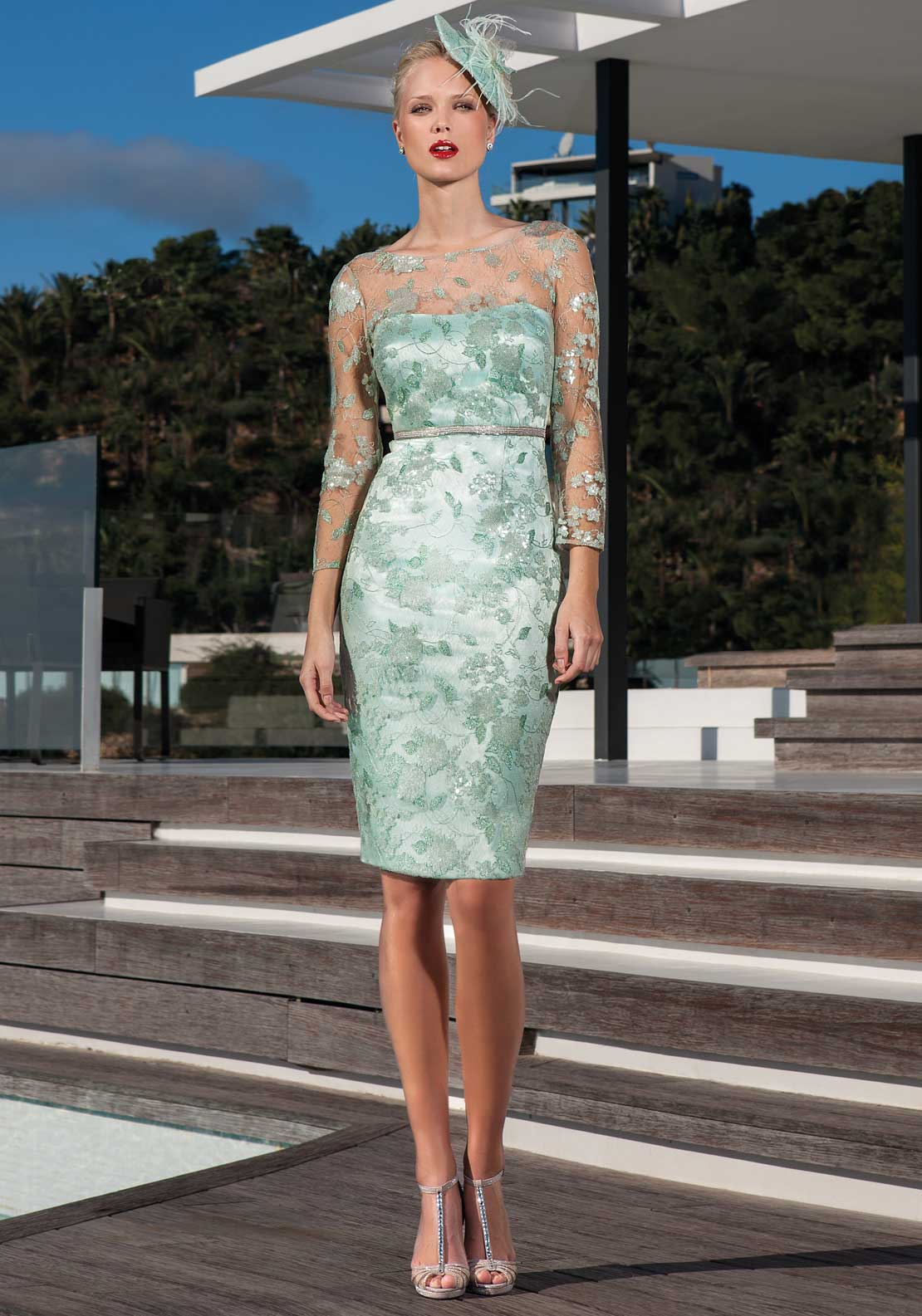 Sonia Pena Lace Dress Green