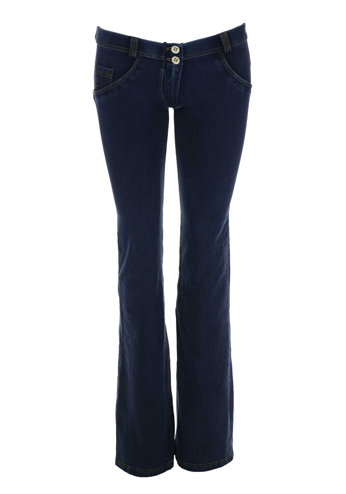 Freddy WR.UP® Low Waist Flare Jeans, Blue Denim