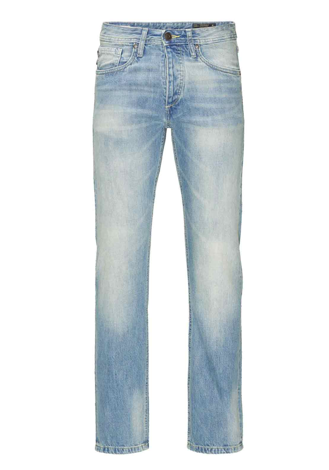 Jack & Jones Clark Regular Fit Faded Jeans, Pale Blue Denim
