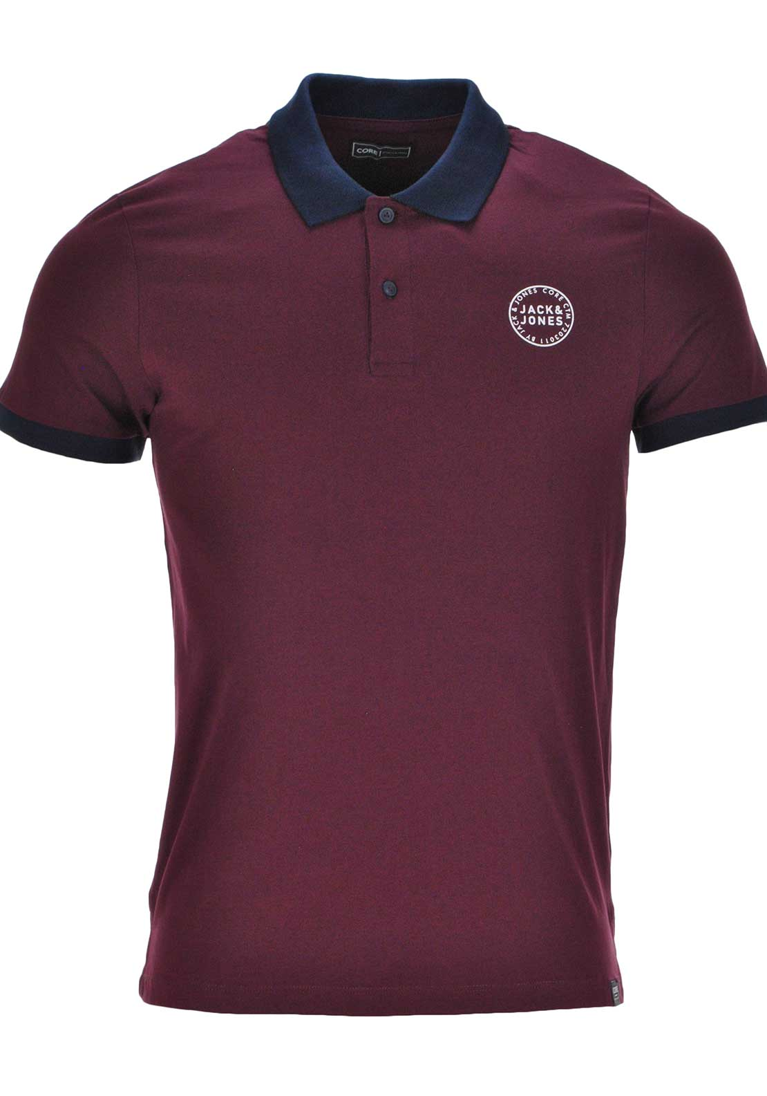 Jack & Jones Core Sure Short Sleeve Polo Shirt, Port Royale