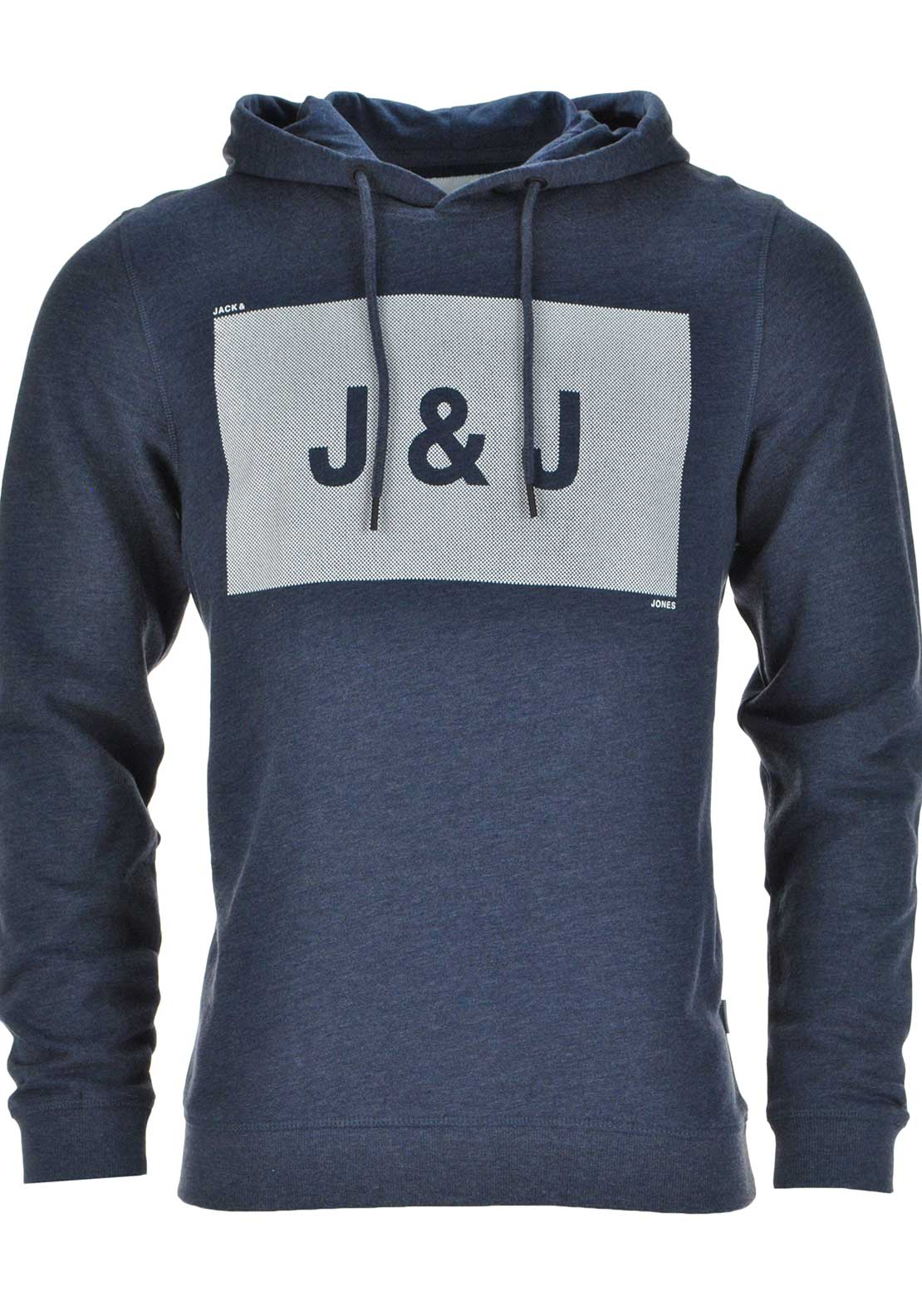 Jack & Jones Take Graphic Print Hoodie Jumper, Navy Blazer