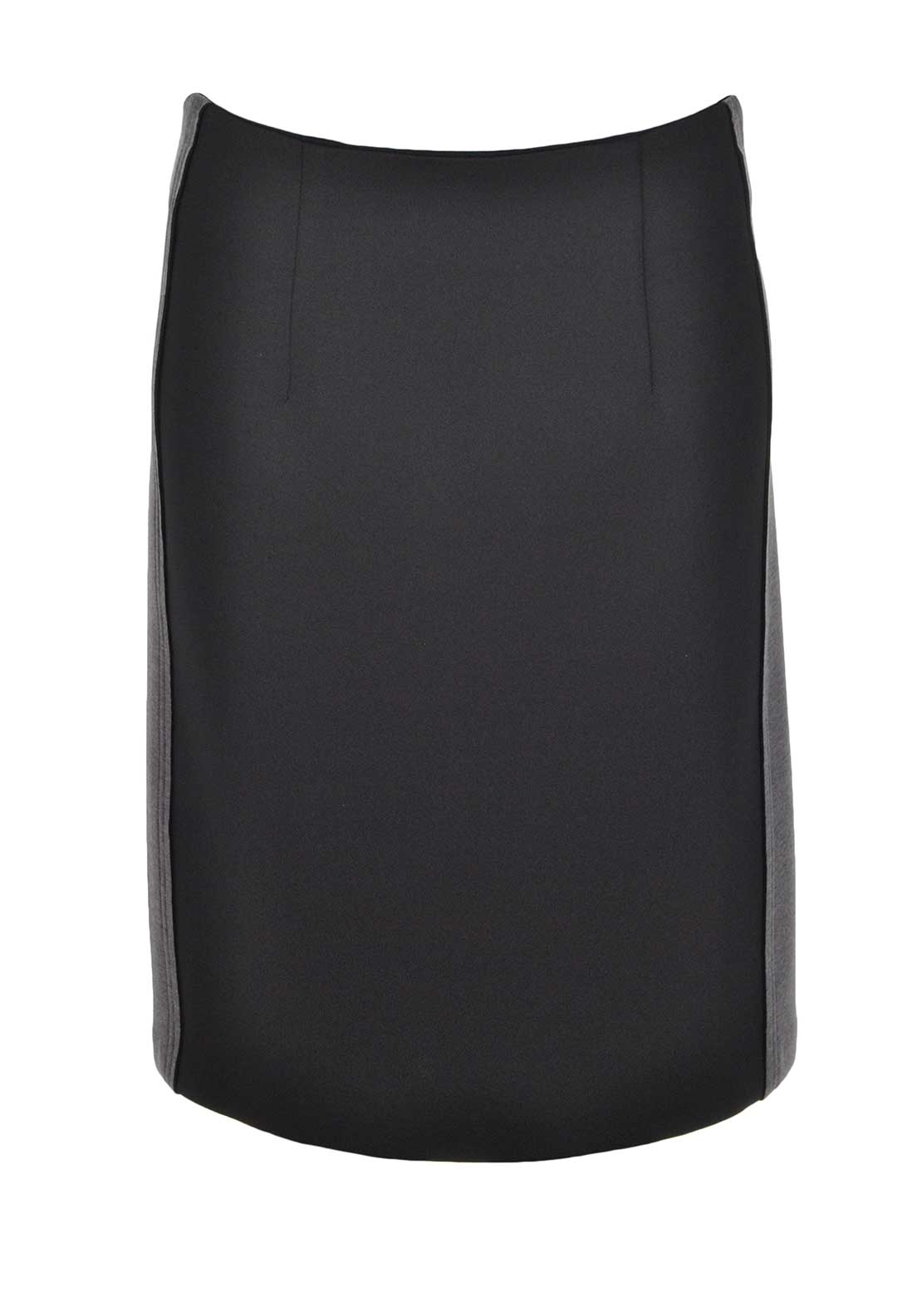 Camelot Colour Block Scuba Pencil Skirt, Black and Grey