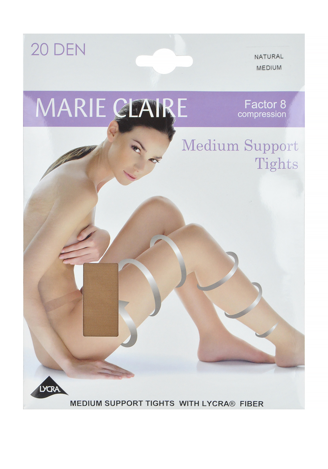 Marie Claire 20 Denier Medium Support Tights, Natural