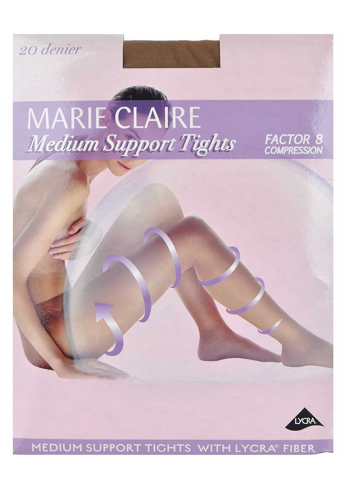Marie Claire 20 Denier Medium Support Tights, Tan