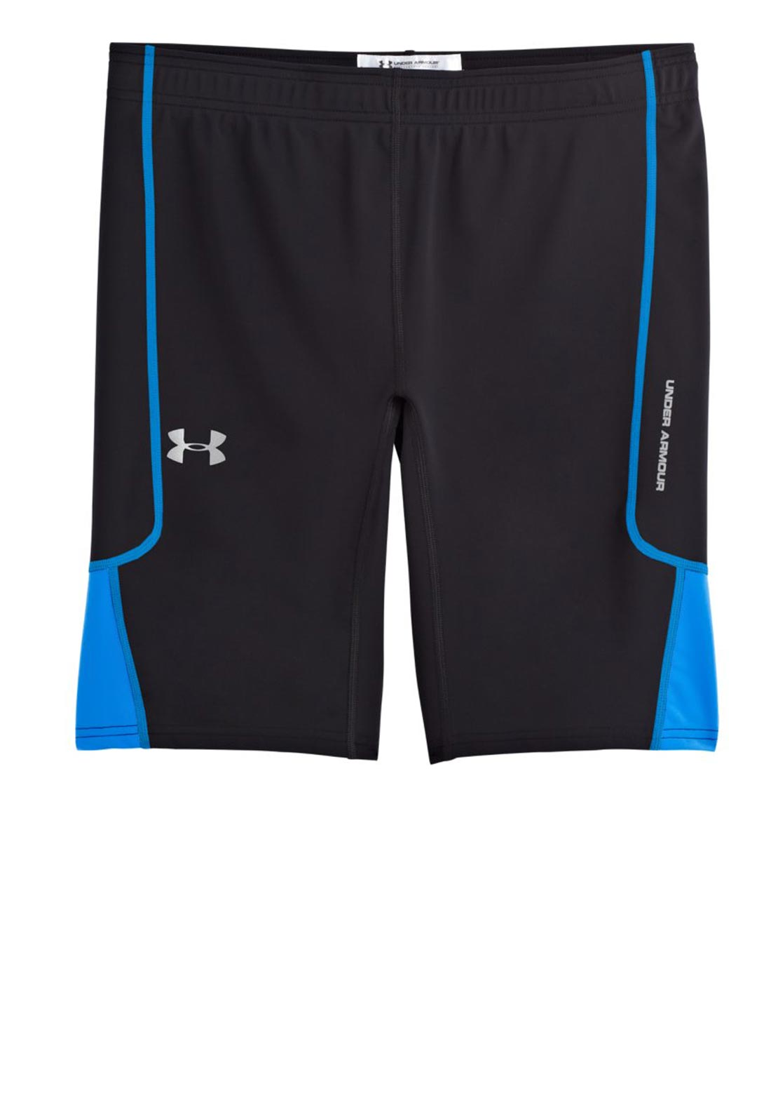 Under Armour Mens UA Run Compression Shorts, Black