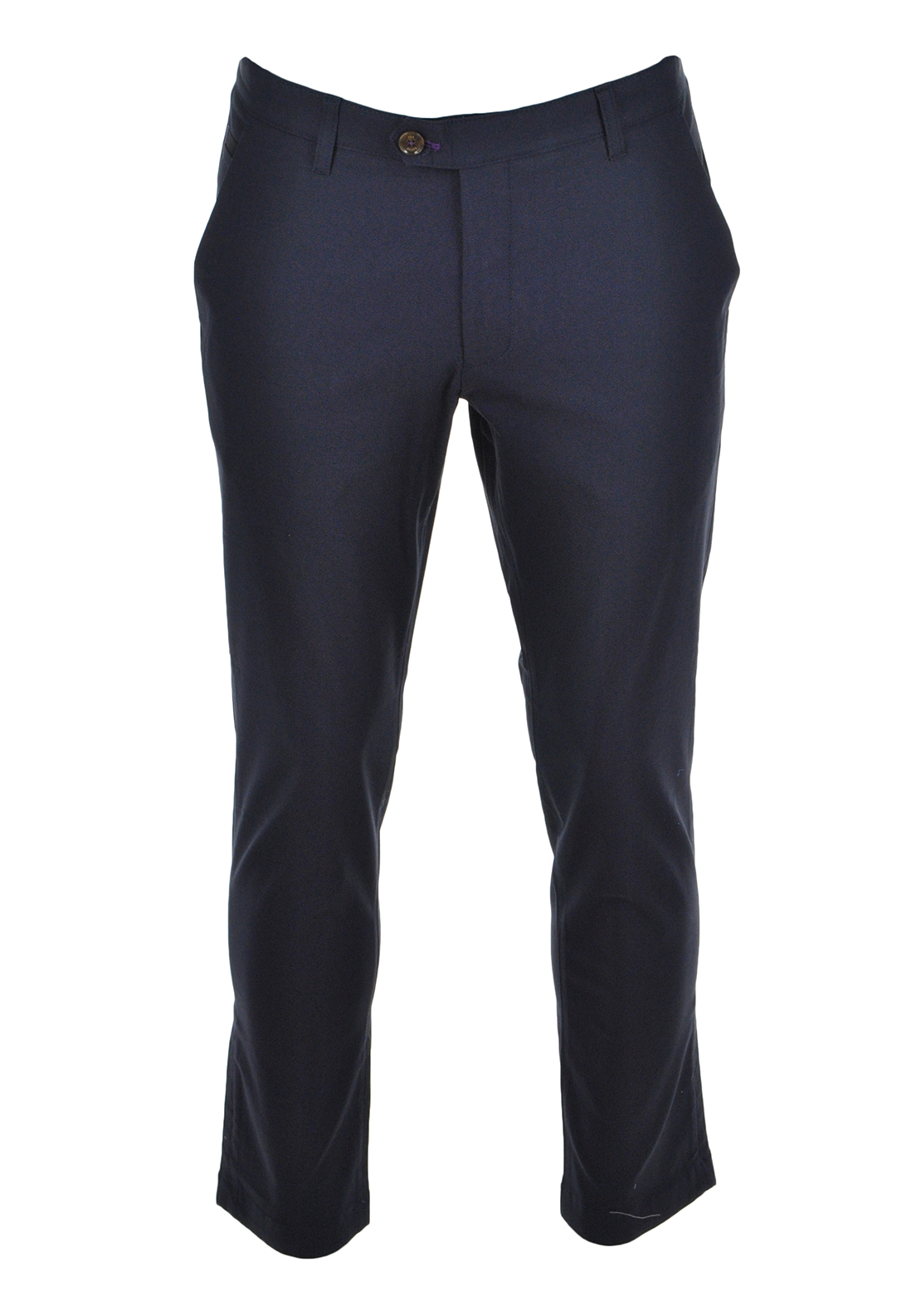 Ted Baker Mens Buggles Smart Cotton Oxford Trouser, Navy