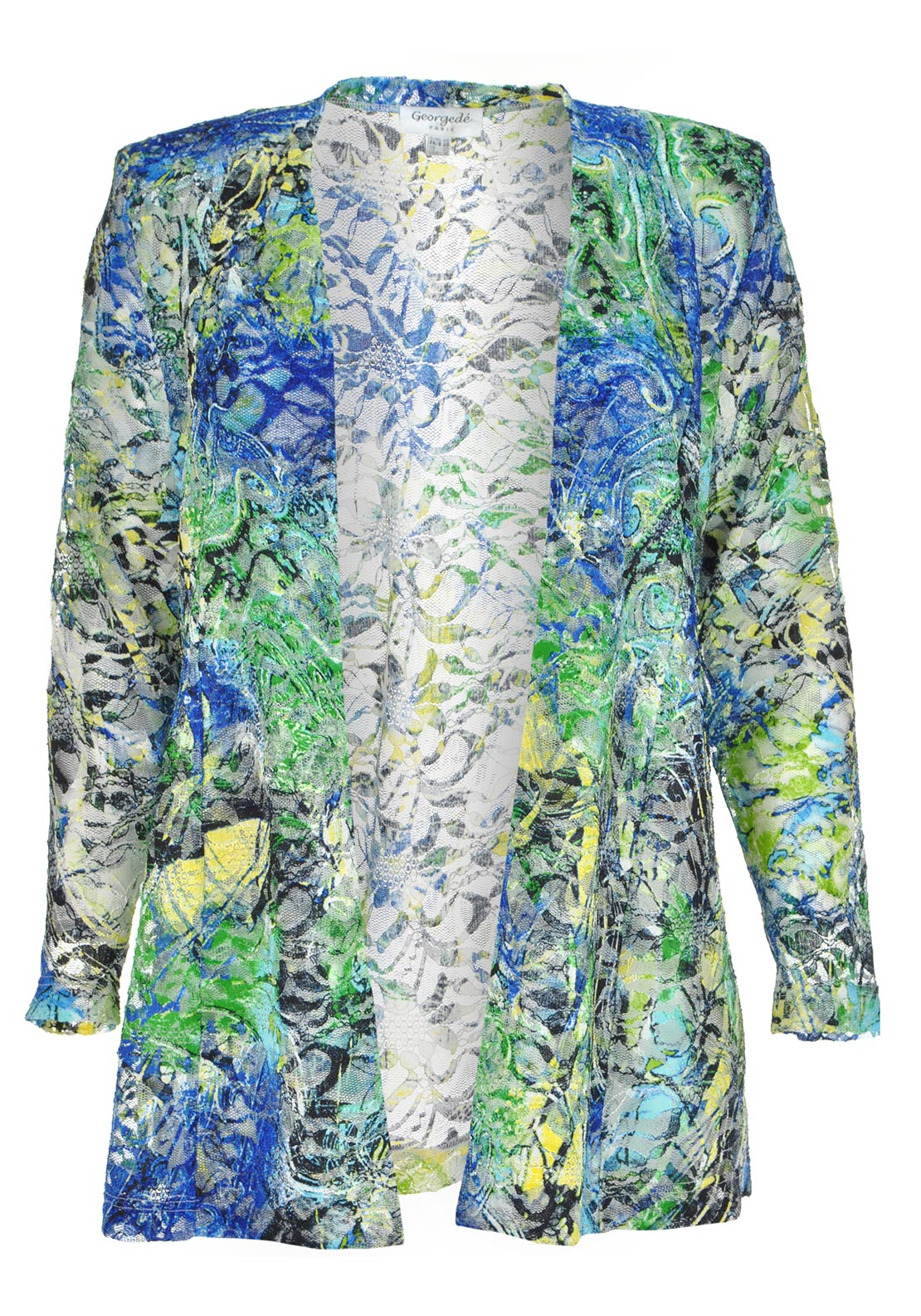 Georgede Printed Lace Jacket, Multi-Coloured