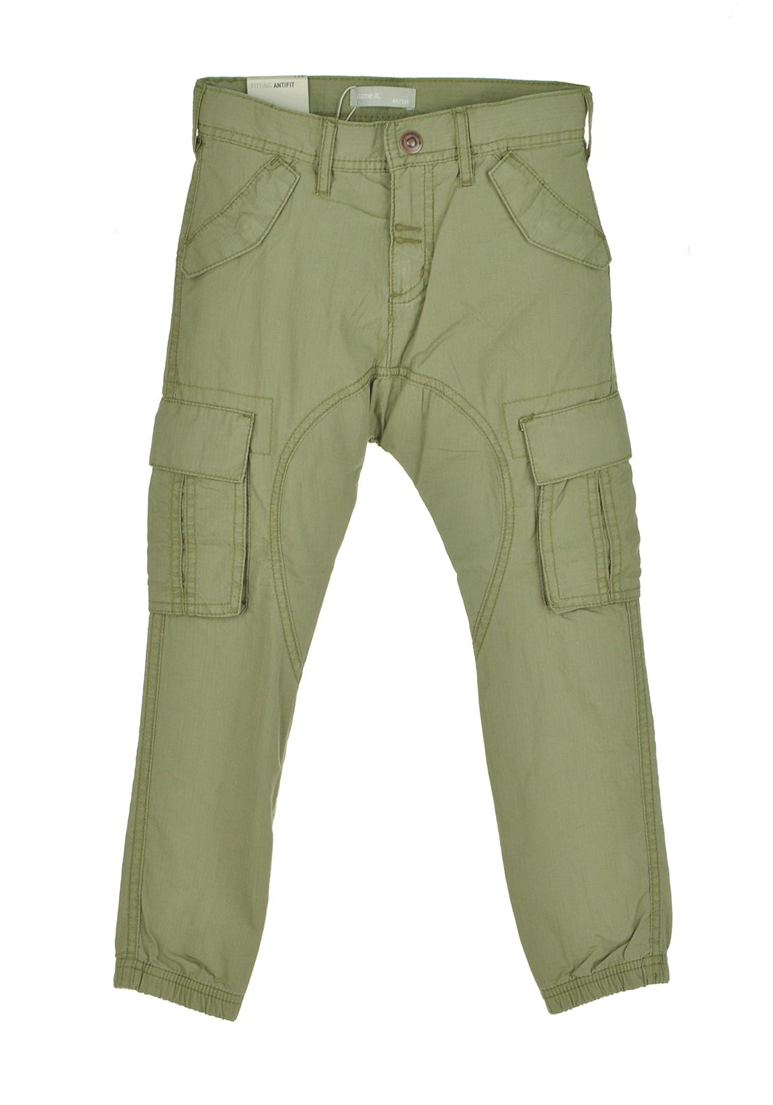 Name It Boys Cargo Trousers, Green