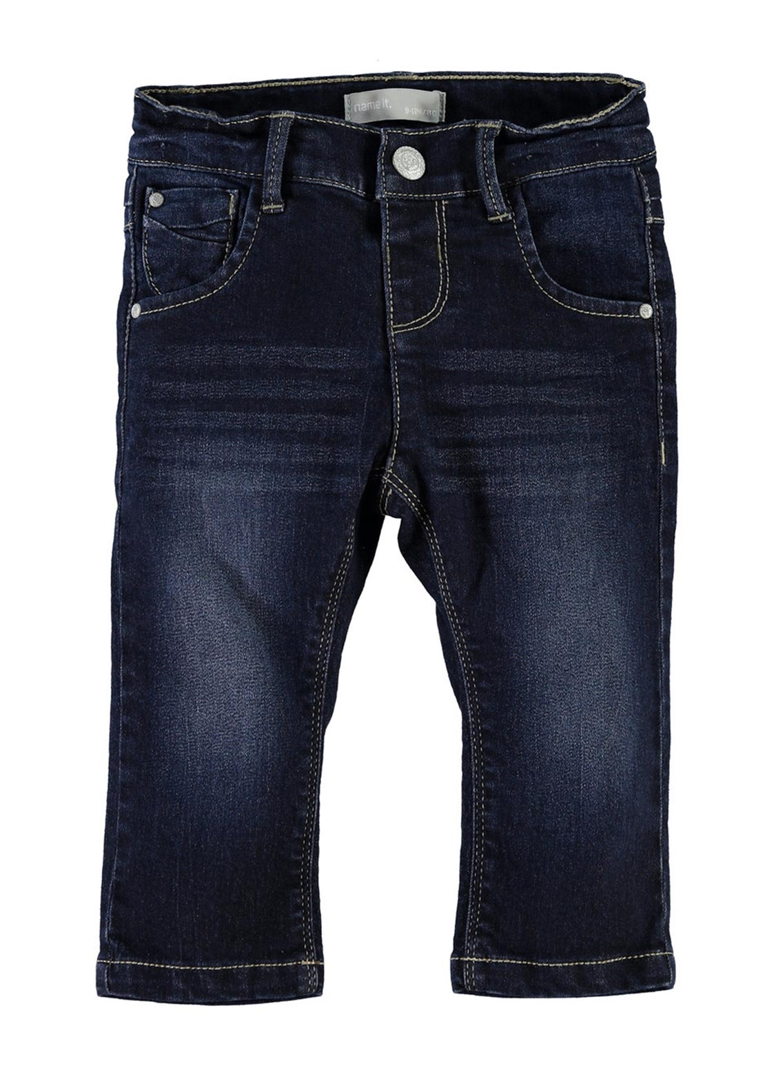 Name It Girls Straight Cut Jeans, Dark Denim
