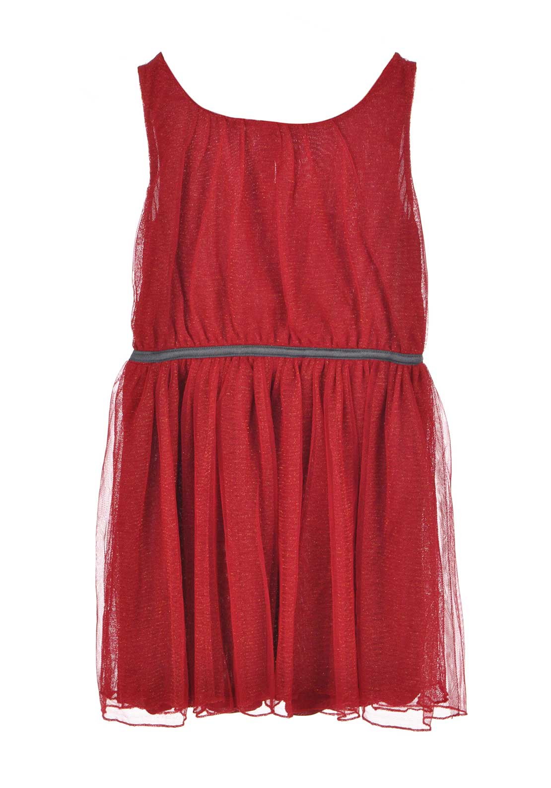 Name It Girls Boss Sleeveless Tulle Dress, Jester Red
