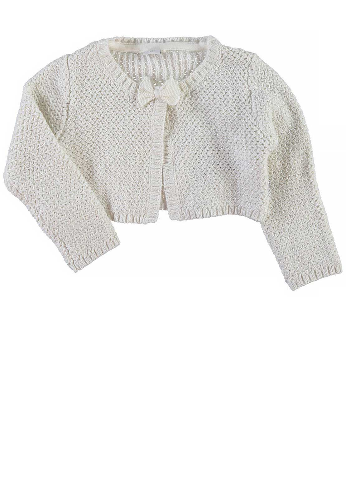 Name It Girls Pinella Knitted Bolero Cardigan, Vanilla Ice