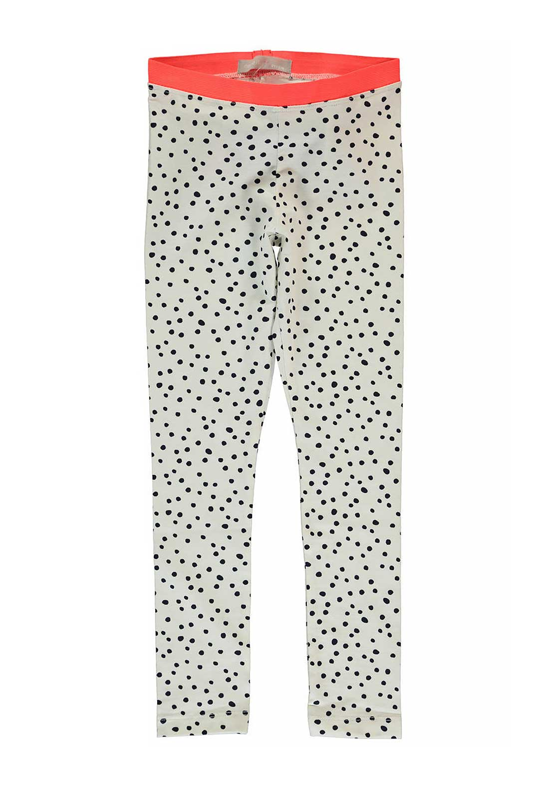 Name It Girls Polka Dot Leggings, Cloud Dancer