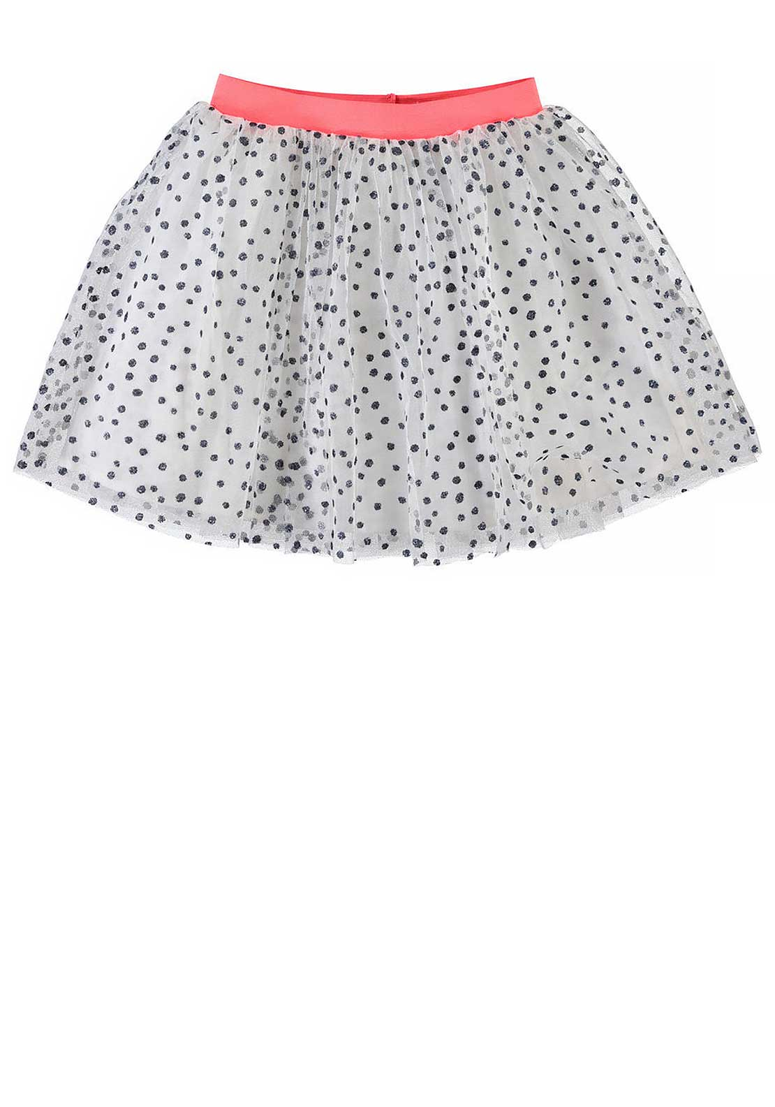 Name It Girls Glitter Tulle Skirt, Cloud Dancer