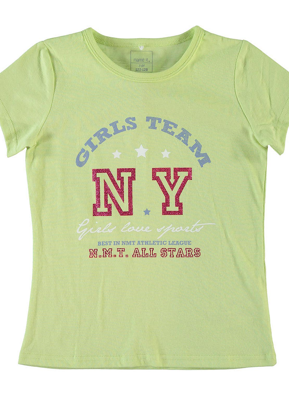 Name It Girls Vaiken NY T-Shirt, Shadow Lime