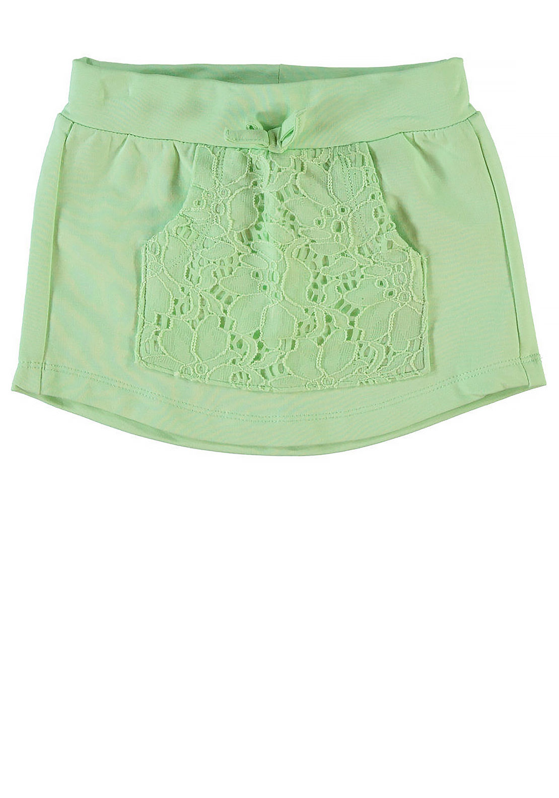 Name It Mini Girls Haoma Lace Pocket Skirt, Pastel Green