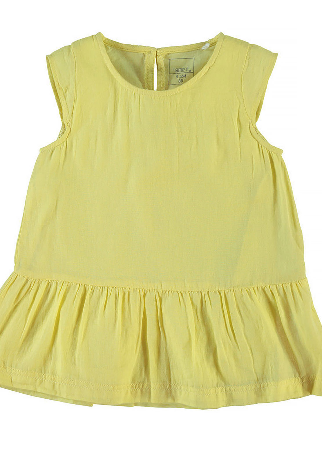 Name It Mini Girls Hanne Tunic Dress, Popcorn Yellow