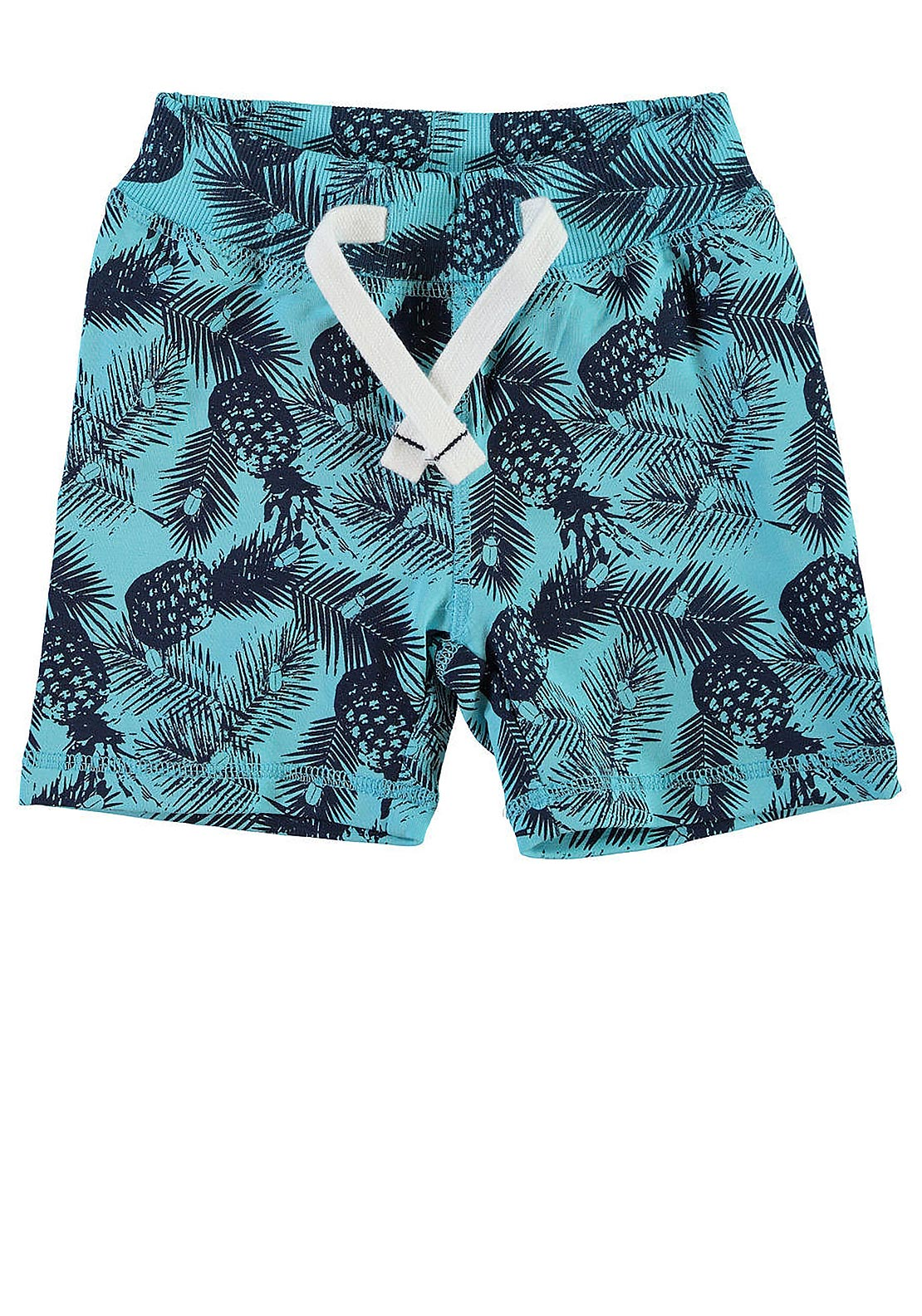 Name It Mini Boys Boson Pineapple Print Sweat Shorts, Blue Radiance