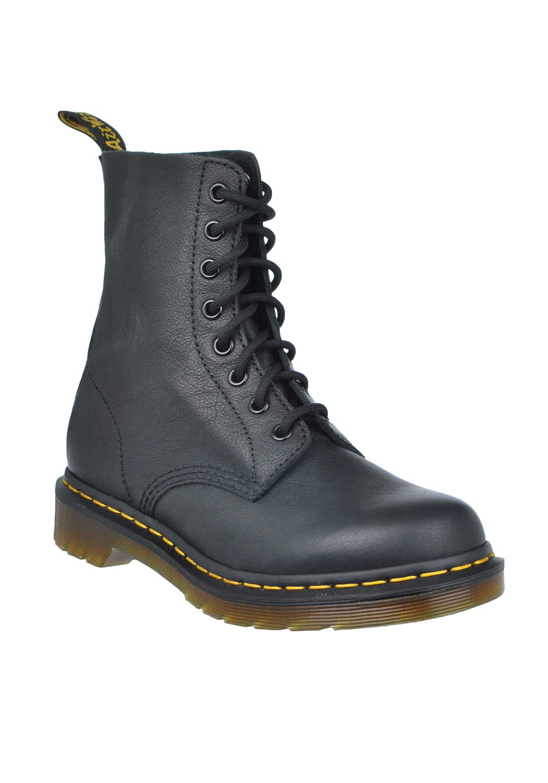 Dr. Martens Womens Airwair Pascal Leather Boot, Black