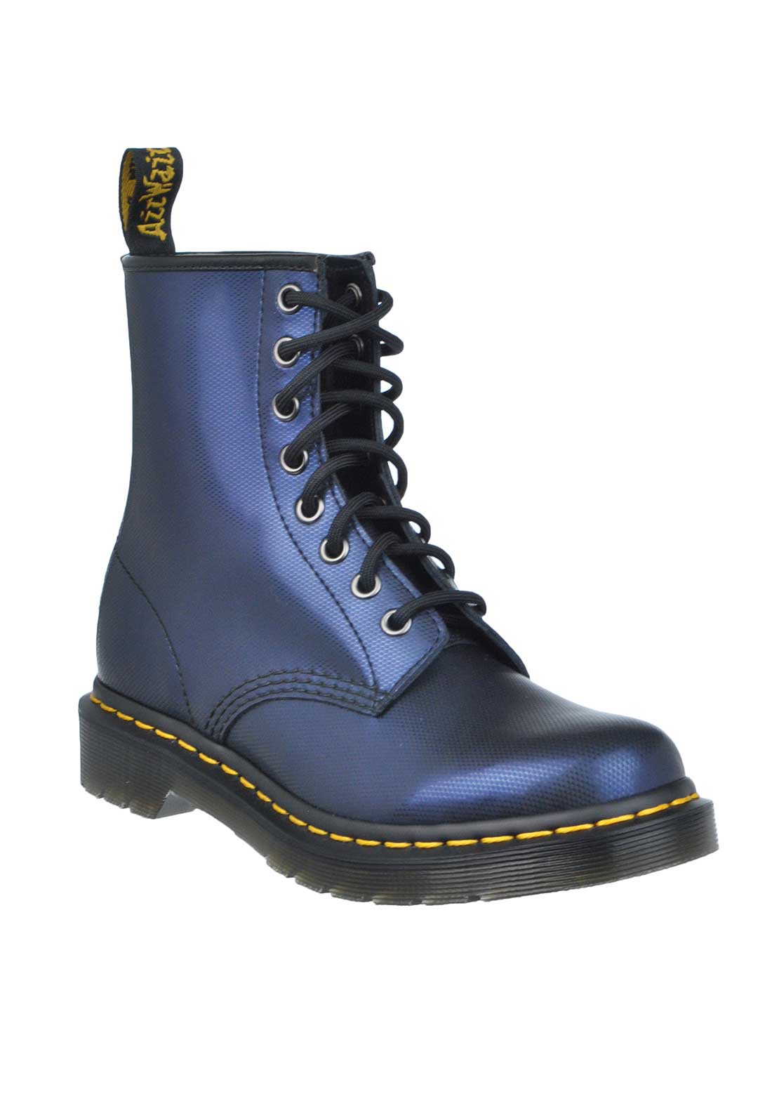 Dr. Martens Womens Airwair 1460 Tracer Leather Boot, Navy