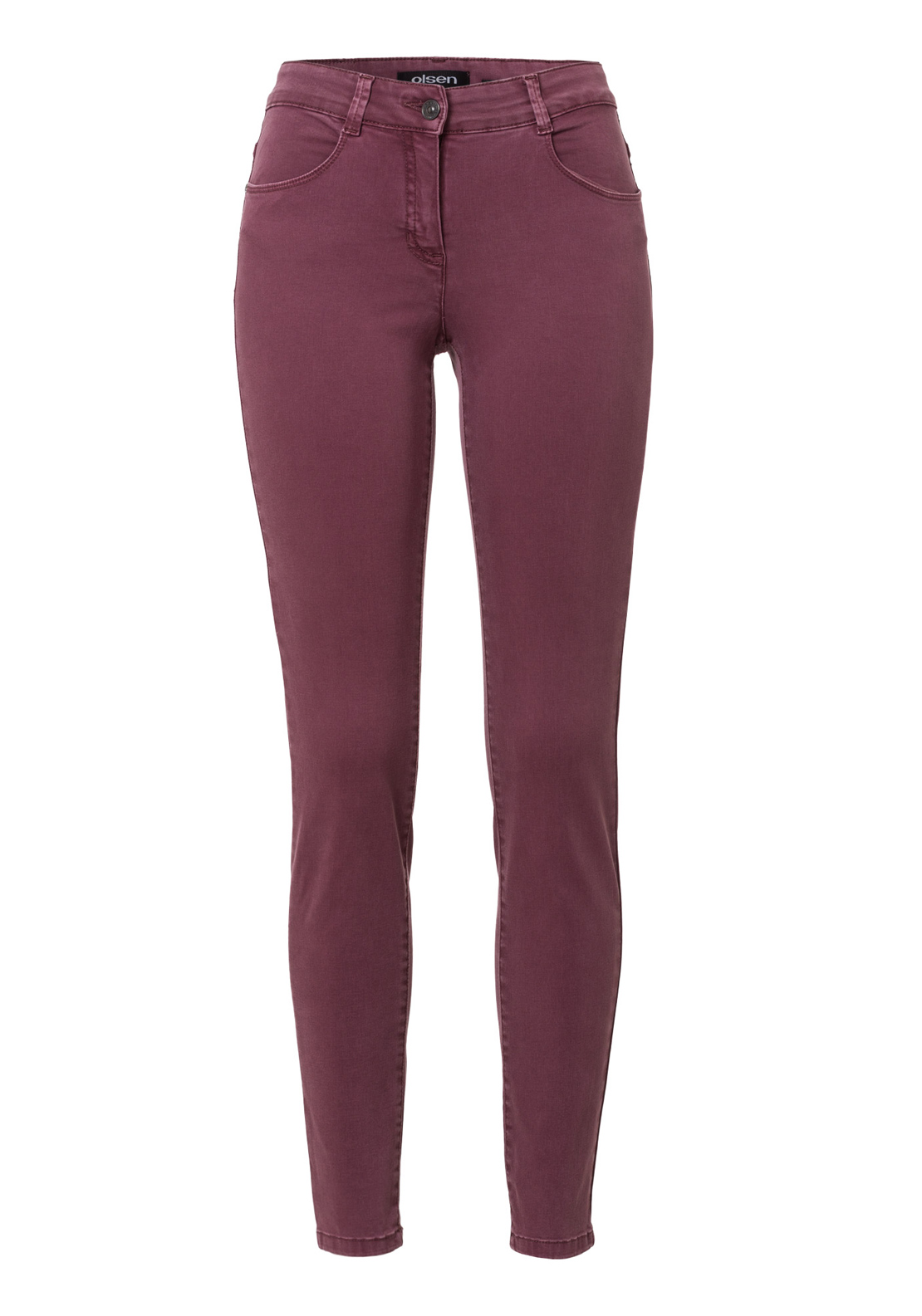 Olsen Dana Slim Fit Power Stretch Jeans, Plum