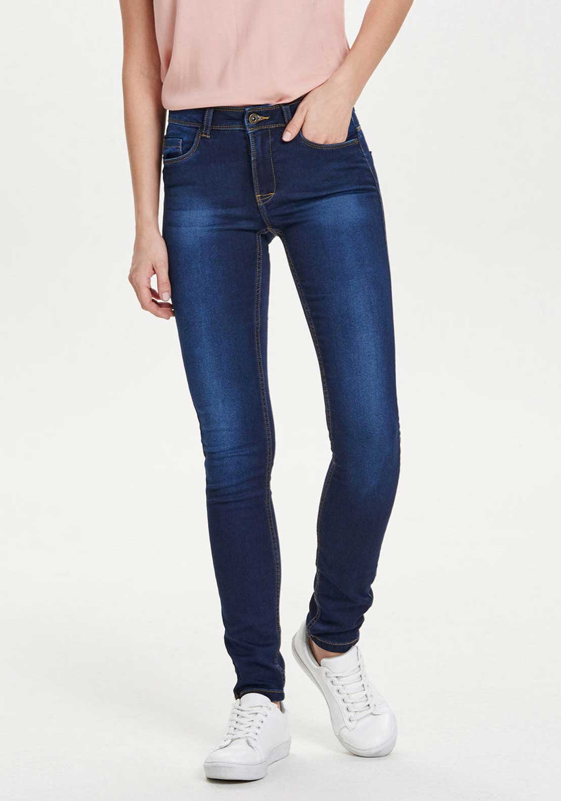 Only Ultimate Regular Soft Skinny Jeans, Dark Blue Denim
