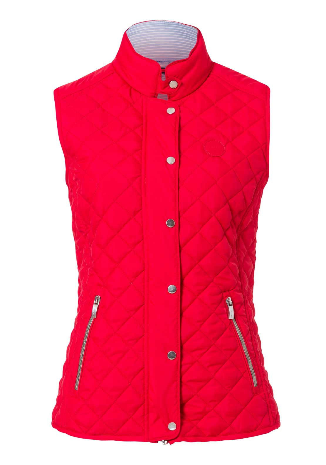 Olsen Quilted Gilet Waistcoat, Red