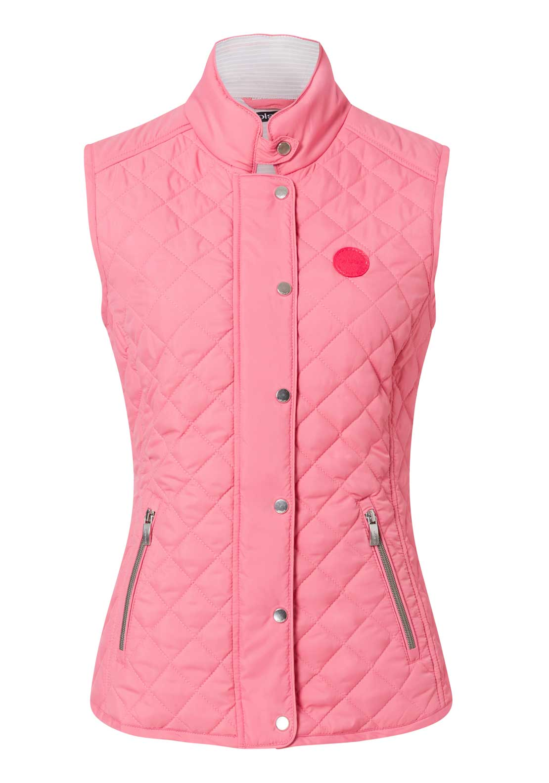 Olsen Quilted Gilet Waistcoat, Salmon Pink