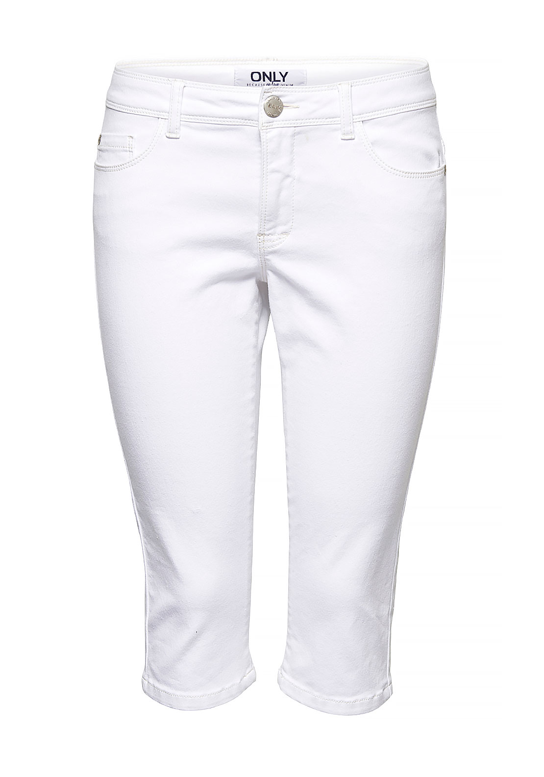 Only Ultimate Soft Regular Cropped Skinny Jeans, White