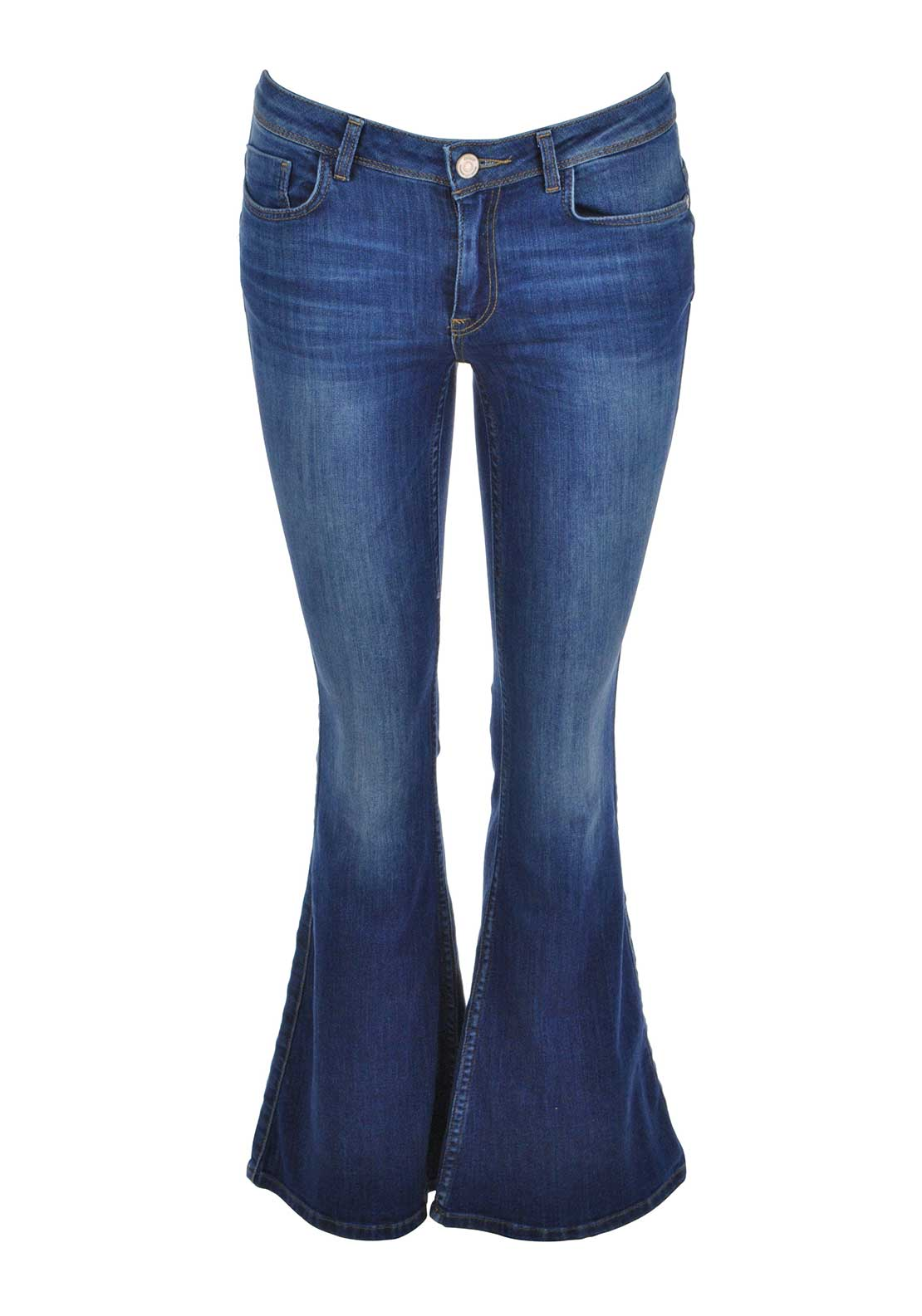 Only Gigi Reg Retro Flared Jeans, Blue