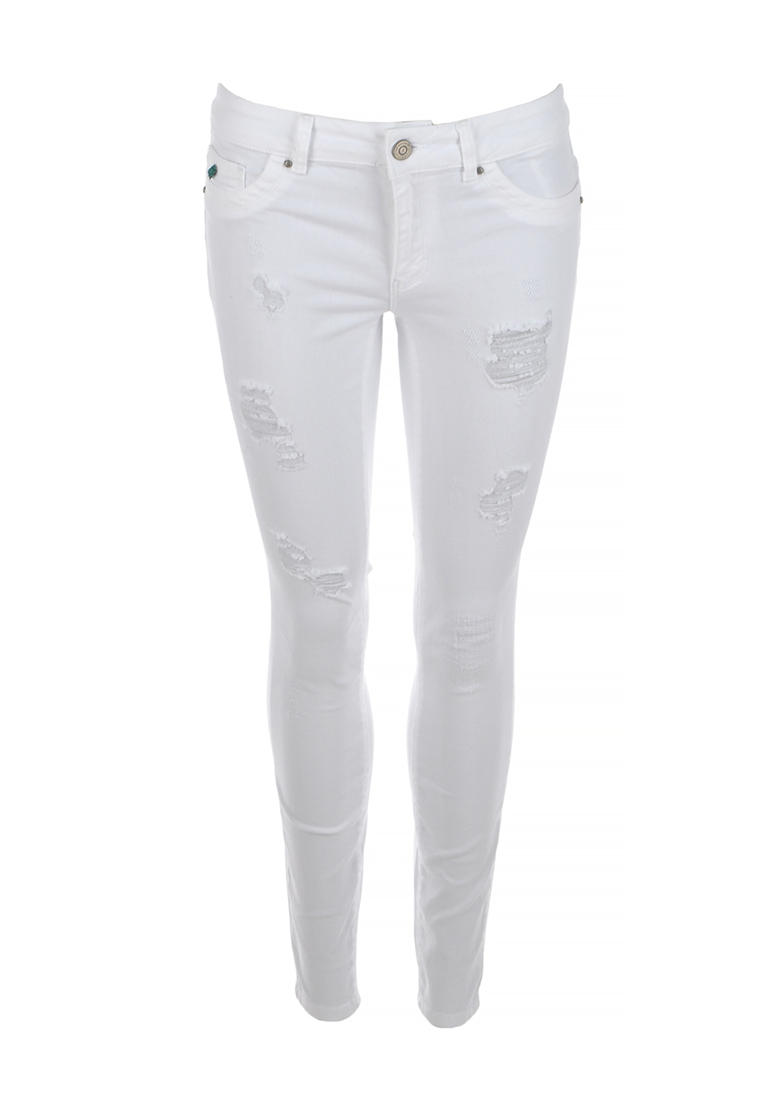 Only Ultimate Regular Ripped Skinny Jeans, White