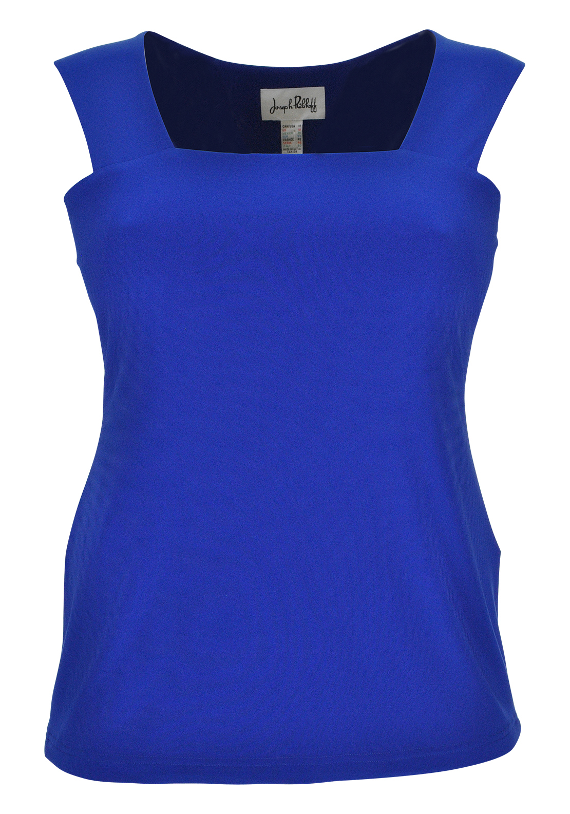 Joseph Ribkoff Colour Block Sleeveless Top, Cobalt Blue