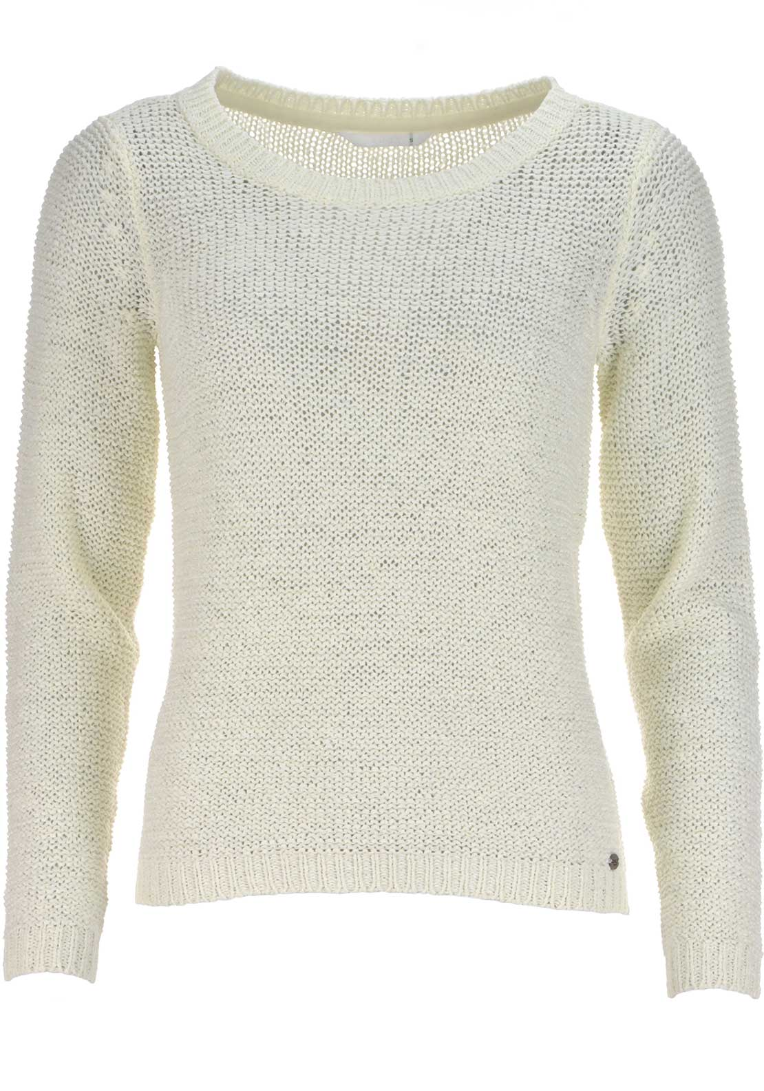 Only Geena Knitted Pullover Jumper, Cloud Dancer