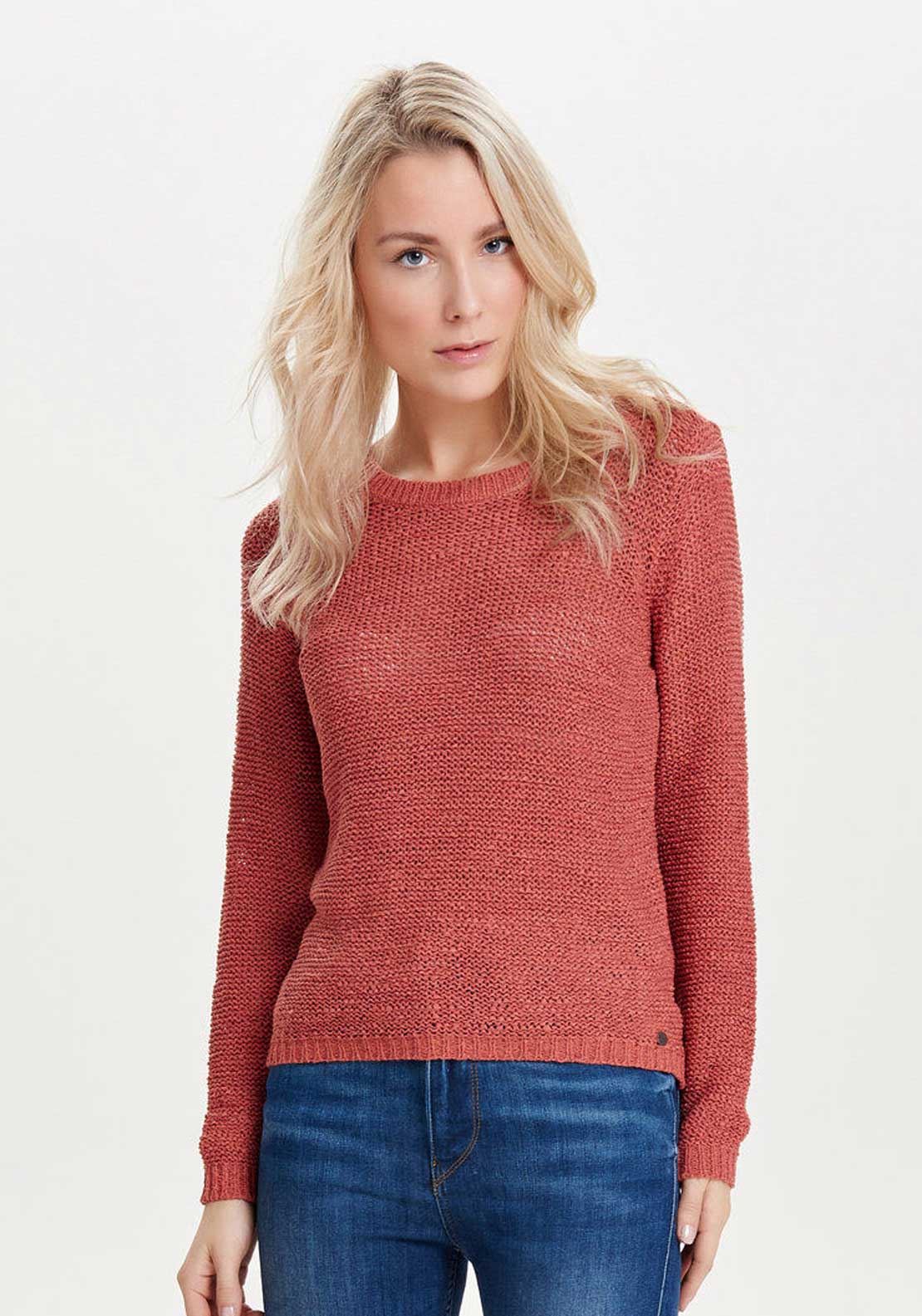 Only Geena Knitted Pullover Jumper, Faded Rose