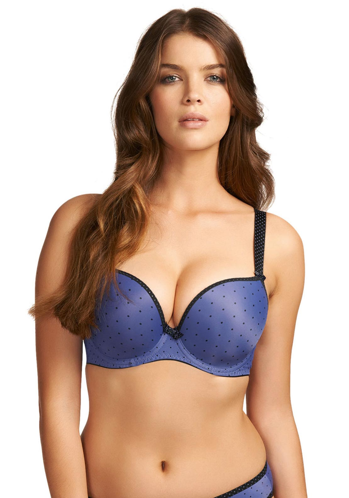 Freya Deco Spotlight Moulded Plunge Bra, Purple