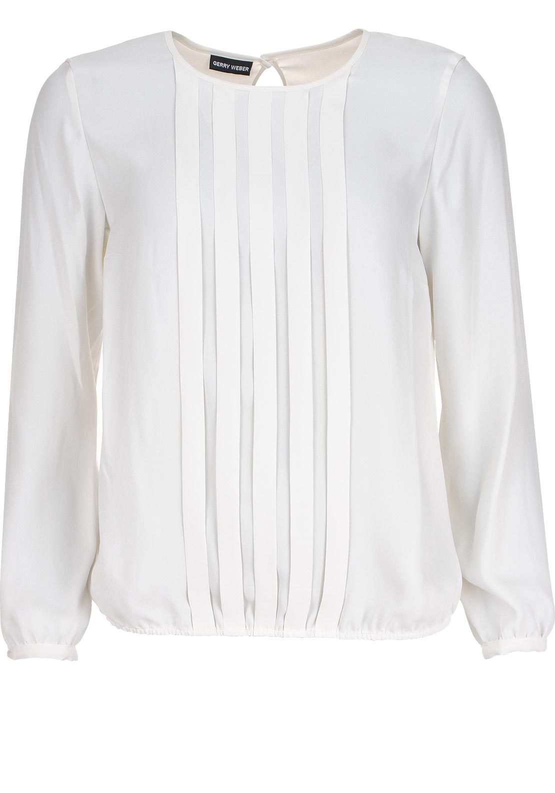 Gerry Weber Pleat Front Long Sleeve Blouse, Ivory