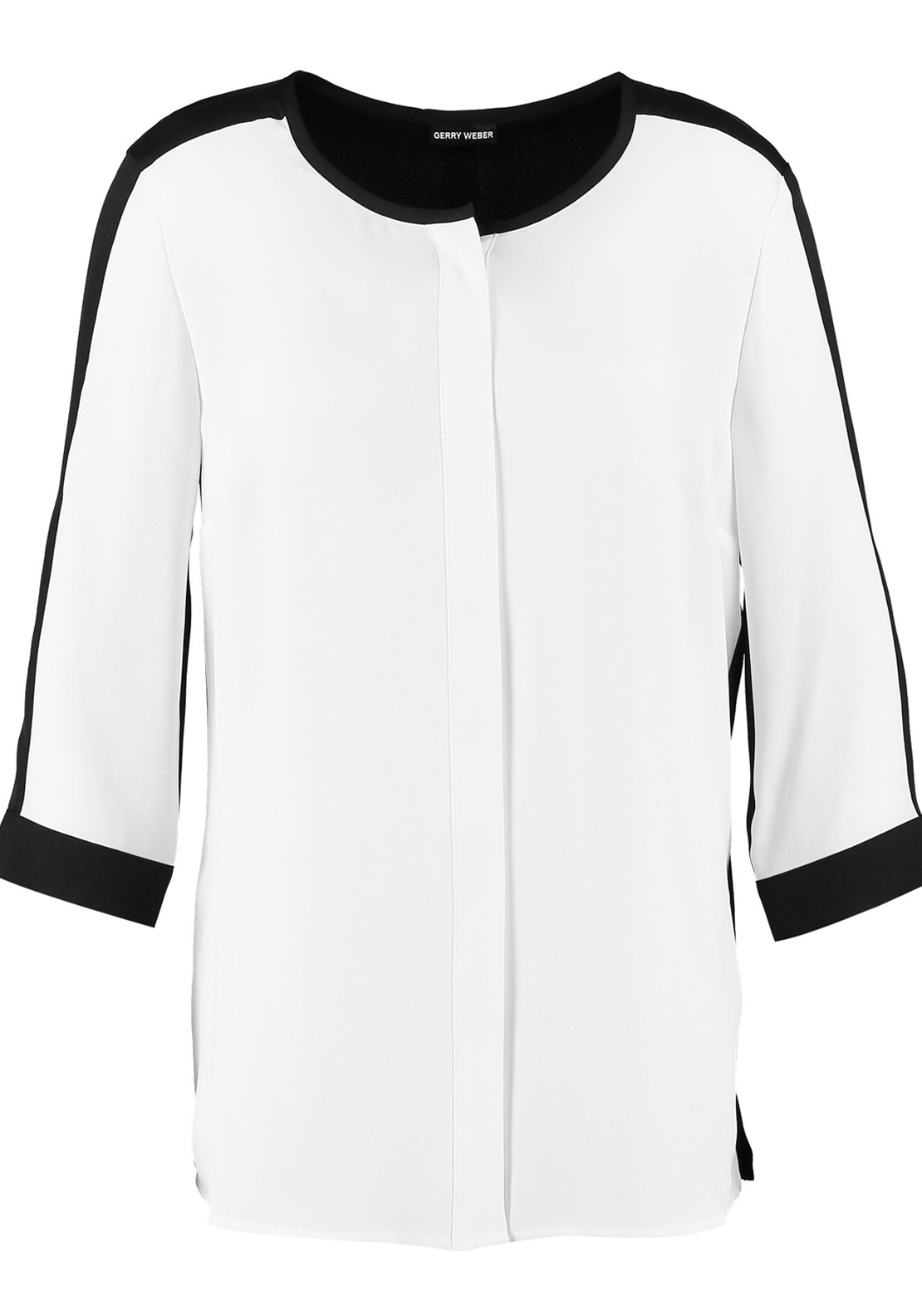 Gerry Weber Relaxed Fit Long Length Blouse, Cream and Black