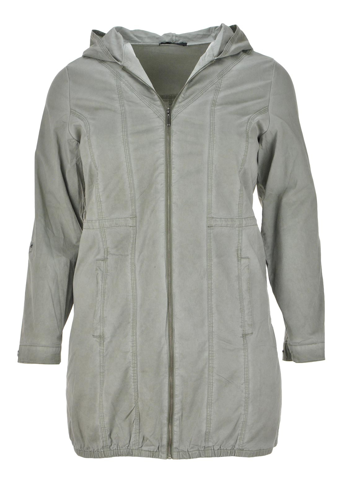 Ciso Hooded Cotton Parka Jacket, Khaki Green