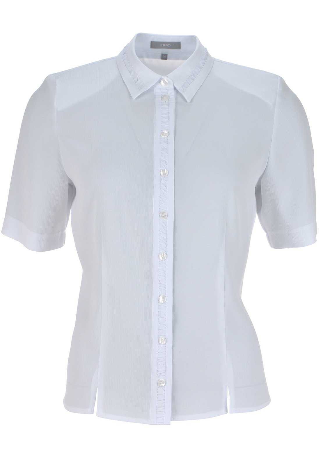 ERFO Textured Short Sleeve Blouse, White
