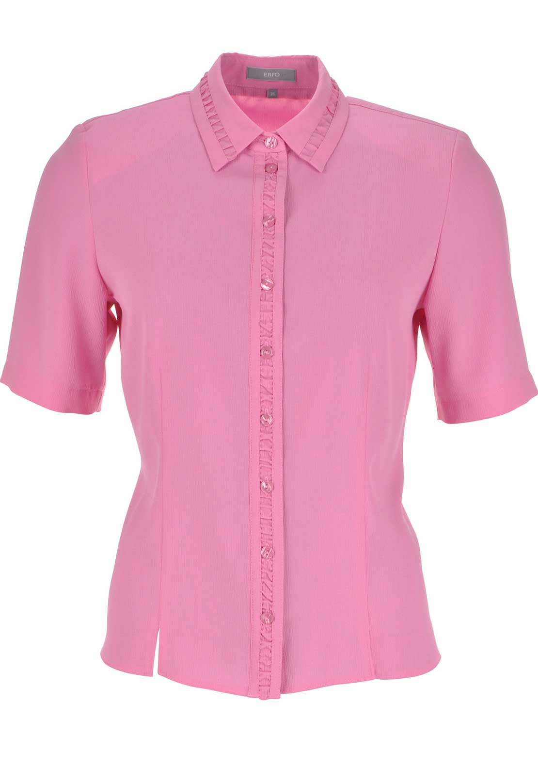 ERFO Textured Short Sleeve Blouse, Pink