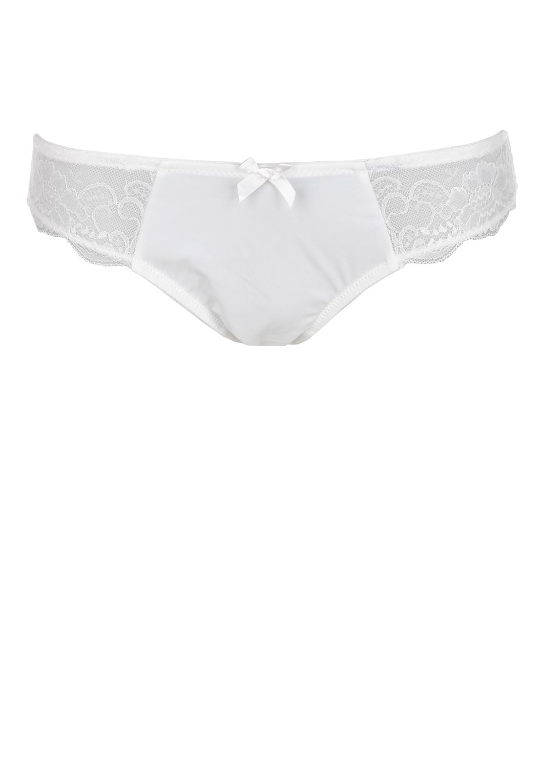 Signature by After Eden Florence Half Lace Brief, Creamy White